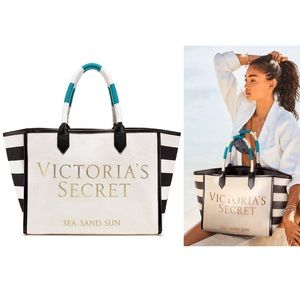 Victoria's Secret Sea Sand Sun Canvas Beach Tote